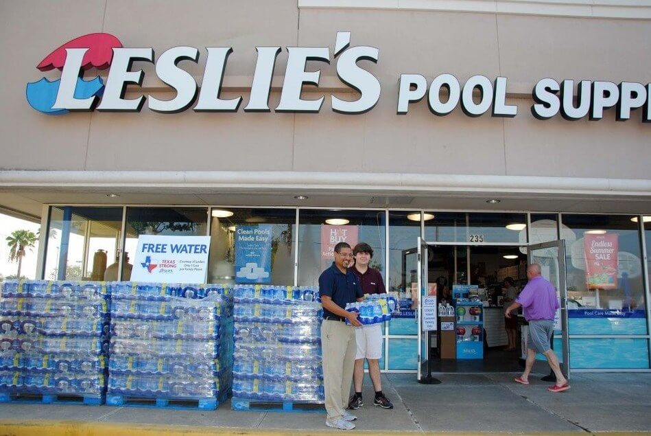 Leslie's there are no supply chain concerns for the swimming pool and supplies chain company.